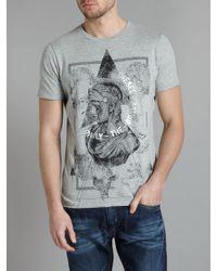 DIESEL - Black Flower Print T-Shirt for Men - Lyst