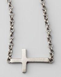 Dogeared | Metallic Integrated Sideways Cross Pendant Necklace | Lyst