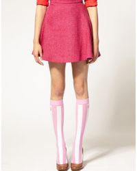 House of Holland | For Pretty Polly Exclusive To Asos Pink Stripe Socks | Lyst