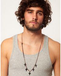 ASOS - Multicolor Asos Cross Necklace for Men - Lyst