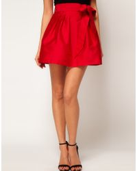 ASOS Collection | Red Skater Skirt with Bow | Lyst