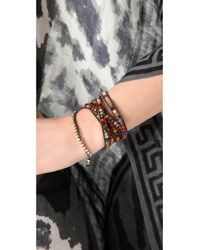 Chan Luu - Multicolor Semi Precious Stone Wrap Bracelet - Multi - Lyst