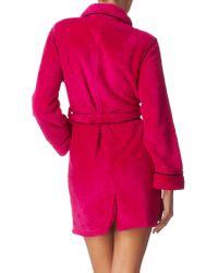 DKNY | Pink Short Robe | Lyst