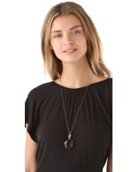 Juicy Couture | Metallic Sloane St Stroll Long Crystal Pendant Necklace | Lyst