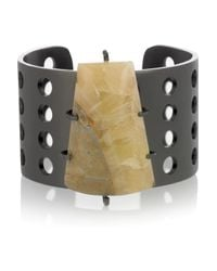 Kelly Wearstler | Gray Perforated Mineral Cuff | Lyst
