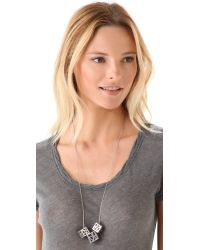 Low Luv by Erin Wasson - Metallic 3 Cage Cubes Necklace - Lyst