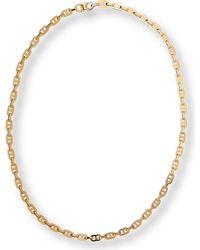 Michael Kors   Metallic Pave Baguette Link Charm Necklace Goldtopaz   Lyst