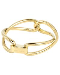Michael Kors - Metallic Equestrian Luxury Love Twist Bangle - Lyst