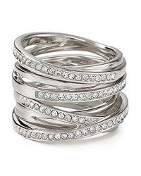 Michael Kors - Metallic Pave Stack Ring - Lyst