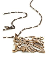 ModCloth - Metallic Filigree On Everything Necklace - Lyst