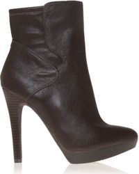 Nine West | Brown Izzabel Leather Ankle Boots | Lyst