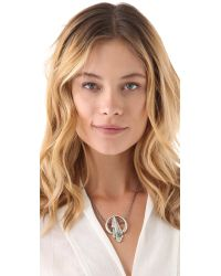 Pamela Love - Metallic Keyhole Necklace - Lyst