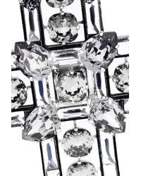 Lanvin - Metallic Oversized Cross Swarovski Crystal Necklace - Lyst