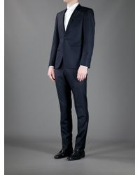 Mr Start | Blue Textured Wool Suit for Men | Lyst