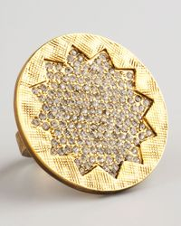 House of Harlow 1960 | Metallic Pave Sunburst Ring | Lyst