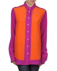 Celine   Orange Long Sleeve Shirts   Lyst