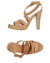 Pedro Garcia - Brown Platform Sandals - Lyst