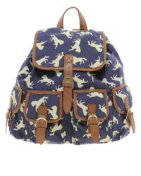ASOS Collection | Blue Asos Bird Print Rucksack | Lyst