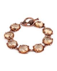 BaubleBar | Metallic Bronze Crystal Bracelet | Lyst