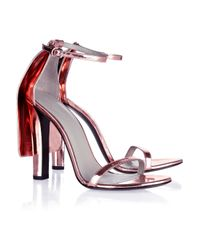 Alexander Wang | Pink Fabiana Metallic Leather Sandals | Lyst