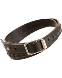 Balenciaga - Black Leather Covered Grommet Wrap Bracelet for Men - Lyst