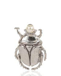Delfina Delettrez | Metallic Cockroach Silver Brooch | Lyst