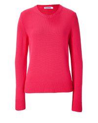 Jil Sander | Poppy Red Cashmere Knit Pullover | Lyst