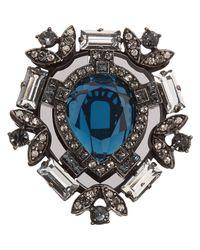 Lanvin | Metallic Oversized Swarovski Crystal Ring | Lyst