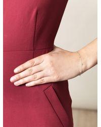 Sia Taylor - Big Dots White Yellow Gold Bracelet - Lyst