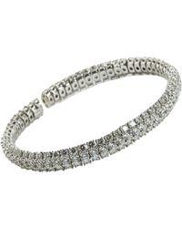 Sidney Garber | Metallic All Diamond Cuff | Lyst