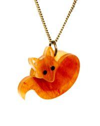 Tatty Devine - Orange Fox Necklace - For Women - Lyst