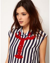 ASOS - Red Tatty Devine Giant Lobster Necklace - Lyst