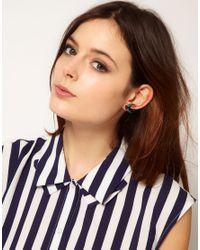Tatty Devine - Red Swallow Earrings - Lyst