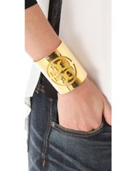 Tory Burch | Yellow Patent Leather Stencil Cuff | Lyst