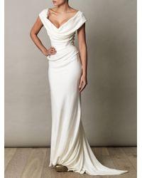 Vivienne Westwood Gold Label | Purple Cocotte Georgette Drape Dress | Lyst