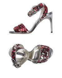 Dolce & Gabbana | Metallic High-heeled Sandals | Lyst