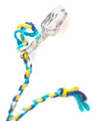 Lucy Folk - Blue Jasmine Flower Braided Bracelet - Lyst