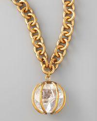 Kelly Wearstler - Metallic Quartz Pendant Necklace - Lyst