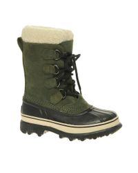Sorel | Green Caribou Boots | Lyst