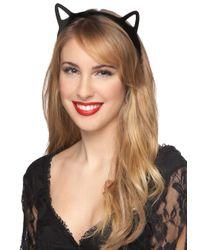 ModCloth - Black Kitty Girl At Heart Headband - Lyst
