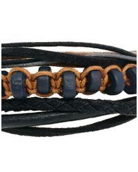 ASOS - Black Asos Leather and String Bracelet Pack for Men - Lyst