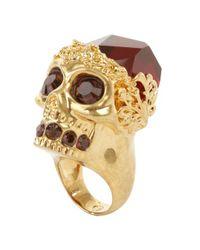 Alexander McQueen   Metallic Skull Cocktail Ring   Lyst