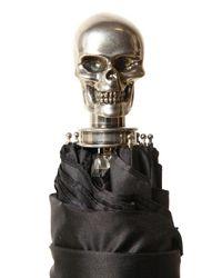Alexander McQueen | Black Skull-detailed Umbrella | Lyst