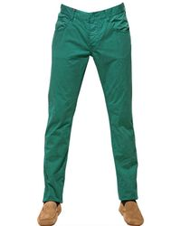 d7625b09b Lyst - Armani Jeans Gabardine Dyed Trousers in Green for Men