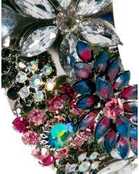 ASOS - Purple Jewel Encrusted Torque Necklace - Lyst