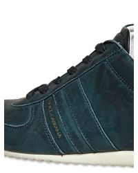 Dolce & Gabbana   Blue Australia Washed Leather Sneakers for Men   Lyst