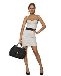Dolce & Gabbana - White Cotton Viscose Lace Galon Top - Lyst