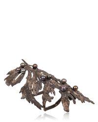 Dominique Lucas | Metallic Juniper Two Tone Bronze Cuff Bracelet | Lyst