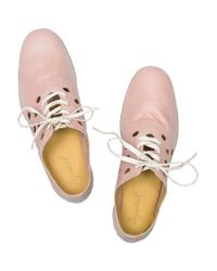 Esquivel - Pink Saddle Perforated Leather Brogues - Lyst
