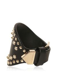 Givenchy - Metallic Studded Leather Cuff Bracelet - Lyst